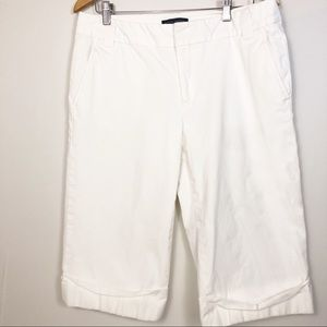 Banana Republic Martin Lined White Bermuda Shorts